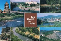 LES GORGES DE L'ALLIER (Haute-Loire) - Multivues : Brioude / Lavoute-Chihac / Langeac / Les Prades / Barrage De Naussac - France