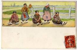 Melchers Illustrateur Enfants Hollandais Moulins 1914 état Superbe - Illustrators & Photographers