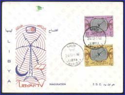 LIBIA - LIBYA - LIBYAN TV - 24.12.1968 - 10 30 MILLS - SCOTT CATALOG # 348/349 - FDC - Libia