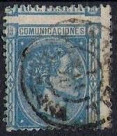ESPAÑA SPAIN 1875 Nº 164 Dh Variedad DENTADO MUY DESPLAZADO - Usados