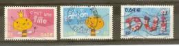 Timbre Oblitété:timbre De Souhait 3463, 3464, 3465 - Oblitérés