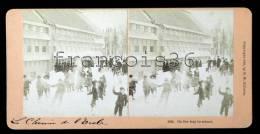 On The Way To School - Cour De Récréation De L'école 1889 - Stereo Vue Stéréoscopique Stereoview - Photos Stéréoscopiques