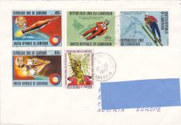 [R] Superbe Lettre Cameroun Cameroon Jeux Olympiques Innsbruck Olympics Espace Space Apollo - Invierno 1964: Innsbruck