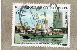 COTE D'IVOIRE : Nouveau Mode De Transport Lagunaire - Vue D'Abidjan Et Bateau De La Sotra - Transport - - Ivory Coast (1960-...)