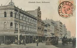 Melbourne Elizabeth Street Stamped Not Used 1907 Tram Tramway - Melbourne