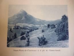 Pays De Chartreuse , Saint Pierre De Chartreuse , Le Pic De Chamechaude , Héliogravure Sépia Bleue De 1931 - Documents Historiques
