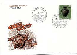 20181 - Enveloppe Avec Oblitération Illustrée D'Anzère - Premier Jour D'utilisation - Marcophilie