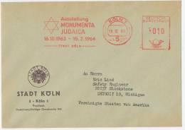 Frankostempel Rot Ausstellung MONUMENTA JUDAICA 16.10.1963-15.2.1964 Köln 1 - [7] West-Duitsland