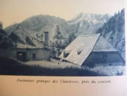 Pays De Chartreuse , Anciennes Granges Des Chartreux , Prés Du Couvent , Héliogravure Sépia Bleue 1931 - Documents Historiques