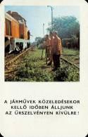RAIL * RAILWAY * RAILROAD * TRAIN LOCOMOTIVE * HUNGARIAN STATE RAILWAYS * MAV * CALENDAR * Munkavedelem 1981 1 * Hungary - Calendriers