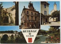 CPSM 30 QUISSAC MULTI VUES  Grand Format - Quissac