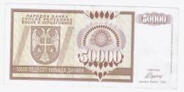 Bosnia And Herzegovina( Republic Of Srpska)Banja Luka 50 000 Dinara 1993 - Bosnia Y Herzegovina