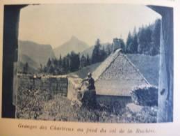 Pays De Chartreuse , Granges Des Chartreux Au Col De La Ruchére , Héliogravure Sépia Bleue 1931 - Documents Historiques