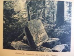 Pays De Chartreuse , Ruines De L'oratoire Du Sapin Des Termes , Héliogravure Sépia Bleue 1931 - Historische Dokumente