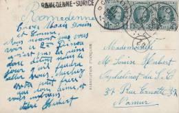 095/20 - Carte Fantaisie TP Houyoux CHATELINEAU 1924 Vers NAMUR - Griffe ROMEDENNE - SURICE - Poststempel