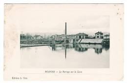 Roanne - Le Barrage Sur La Loire - Marquise Relief - Ecrite En 1911 - Roanne