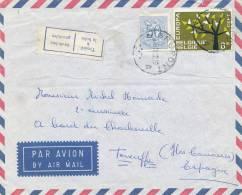 102/20 - Lettre AVION TP Europa + Lion Héraldique GRUPONT 1962 Vers TENERIFE - Etiquette Bilingue TROUVE A LA BOITE - Lettres & Documents