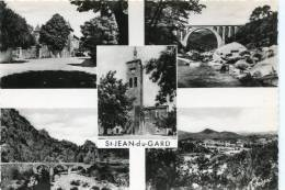 CPSM 30  ST JEAN DU GARD MULTI VUES  Grand Format - Saint-Jean-du-Gard