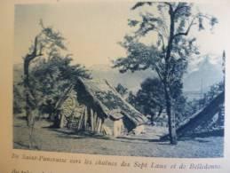 Pays De Chartreuse , Saint Pancrasse Vers Les Chaines Des Sept Laux Et De Belledonne ,héliogravure Sépia Bleue 1931 - Historische Dokumente