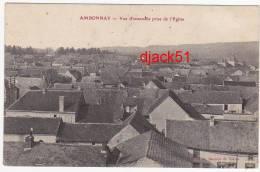AMBONNAY (Marne) - Vue D'ensemble Prise De L'Eglise - 1909 - Autres Communes