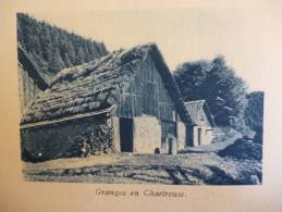 Pays De Chartreuse , Granges En Chartreuse ,héliogravure Sépia Bleue 1931 - Historische Dokumente