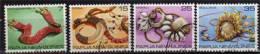 PAPOUASIE. Anciennes Monnaies D´echange De Papouasie. 4 T-p Oblit. Yv.# 367/70.Serie Complete - Papua Nuova Guinea
