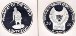 @Y@  Congo Kongo 10 FR 2010 Warriors Of The World  Centurion `` Proof. - Congo (République Démocratique 1998)