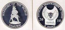 @Y@  Congo Kongo 10 FR 2010 Warriors Of The World   ``Samurai  ' Proof. - Congo (République Démocratique 1998)
