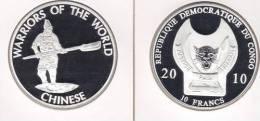 @Y@  Congo Kongo 10 FR 2010 Warriors Of The World  Chinese `` Proof. - Congo (République Démocratique 1998)