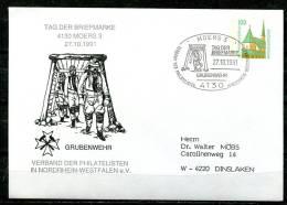 """Allemagne,Germany 1991 Privatganzsache 4130 Moer Mi.Nr.PBU 1/? Mit SST""""4130 Moers-Tag Der Briefmarke,Grubenwe""""1 PGS Used - Unfälle Und Verkehrssicherheit"""