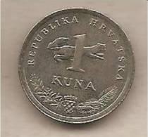 Croazia - Moneta Circolata Da 1 Kuna (Slavuj - Croatian: Odd Years) - 1995 - Croazia