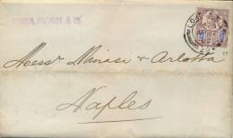 Great Britain 1902 Cover From London To Naples (Italy) Franked With 5 Pence Queen Victoria Jubilee - 1840-1901 (Regina Victoria)
