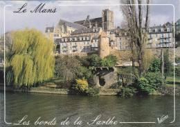 Cp , 72 , LE MANS , Les Bords De La Sarthe , L'enceinte Gallo-romaine (IIIe-IVe S.), La Tour Madeleine - Le Mans