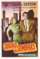 Programa De Cine CIUDAD En SOMBRAS. Cine Kansas 1955 - Cine