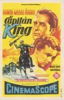 Programa De Cine EL CAPITAN KING. Cine Palafox. 1953 - Cine