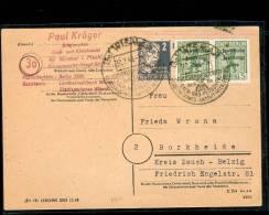 30.7.48  SBZ. BESSERE MiF. SST. Wismar/Borkheide. MK - Sowjetische Zone (SBZ)