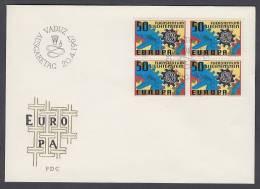 CEPT Europa - FDC 1967 - Liechtenstein - MiNr. 474 - Four Bloc - 1967