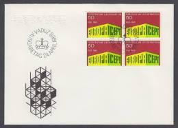 CEPT Europa - FDC 1969 - Liechtenstein - MiNr. 507 - Four Bloc - Europa-CEPT