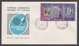 CEPT Europa - FDC 1975 - Zypern Cyprus - MiNr. 426-428 - Three Stripes - Europa-CEPT