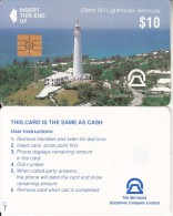 BERMUDA ISL. - Gibbs Hill Lighthouse(reverse B Without CN), Chip GEM2.1, Tirage %7000, Used