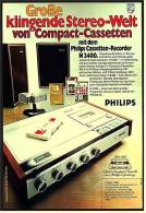 Reklame Werbeanzeige 1968 ,  Philips Casetten-Recorder N 2400 - Große Klingende Stereo-Welt - Wissenschaft & Technik
