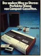 Reklame Werbeanzeige 1968 ,  Philips Stereo-Casetten-Recorder N 2407 - Perfekter Klang - Wissenschaft & Technik