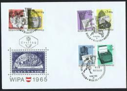 1965  Histoire De La Lettre Emise Pour WIPA 1965 Sur 1 FDC - FDC