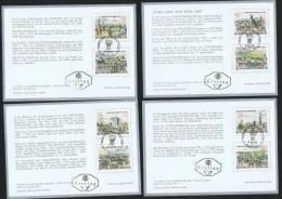 1964  Vues De Vienne  Emise Pour WIPA 1965 ** Sur 4 Cartes FDC - 1945-.... 2nd Republic