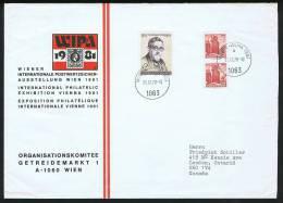 Lettre Du Comité Organisateur De WIPA 1981  Pour Le Canada Inclus: Règlements, Formulaire D'insription - 1971-80 Covers