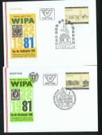 WIPA 1981  2 Timbres De Propagande MiNr 1629, 1662 - FDC