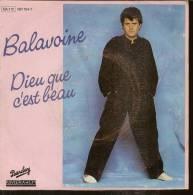 """45 Tours SP - DANIEL BALAVOINE - RIVIERA 881124 -   """" DIEU QUE C'EST BEAU """" + 1 - Discos De Vinilo"""