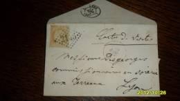 Seul Sur LETTRE TP N°59  COTE = 15,ooeur OBL / LYON Pour LYON Les TERREAUX 1874 - 1849-1876: Klassik