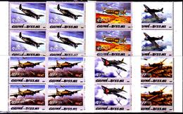 Guinée Bissau 1998 / 03 Avions Militaires ( Blocs De 4 ) - Guinea-Bissau