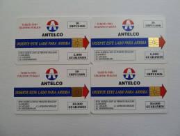 PARAGUAY - Mint - 1st Set - Chip - 10, 30, 50 & 100 Units - Antelco - Paraguay
